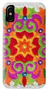 Rangoli Made With Coloured Sand IPhone Case