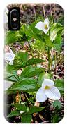 Rare Great White Trilliums IPhone Case