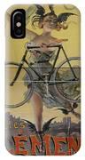 Rare Vintage Paris Cycle Poster IPhone Case