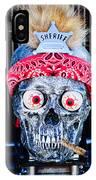 Rat Rod Skull Hood Ornament 2 IPhone Case