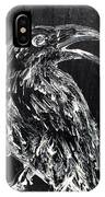 Raven On The Branch - Oil Painting IPhone Case