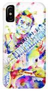 Ravi Shankar - Watercolor Portrait IPhone Case