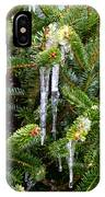 Real Christmas Icicles IPhone Case