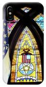 Recollection Union Soldier Stained Glass Window Digital Art IPhone Case