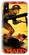 Recruiting Poster - Ww1 - Marines Over The Top IPhone Case