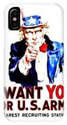 Recruiting Poster - Ww1 - I Want You IPhone Case