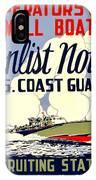 Recruiting Poster - Ww2 - Coast Guard IPhone Case