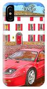 Enzo Ferrari S Garage With 1995 Ferrari 512m IPhone Case