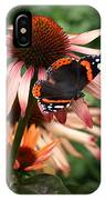 Red Admiral On Coneflower IPhone Case