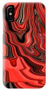 Red And Black Flowing Abstract IPhone Case