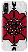 Red And Black On White IPhone Case