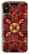 Red And Gold Celtic Cross IPhone X Case