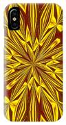 Red And Gold Christmas Kaleidescope IPhone Case