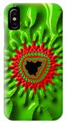Red And Green Abstract Fractal Art IPhone Case