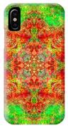 Red And Green Sun Mandala IPhone Case