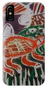 Red And Green Tortoise On Their Way To Bush IPhone Case