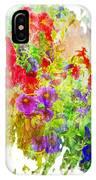 Red And Purple Calibrachoa - Digital Paint II IPhone Case