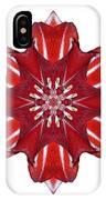 Red And White Amaryllis Vii Flower Mandala White IPhone Case