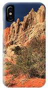 Red And White Desert Towers IPhone Case