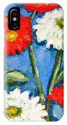 Red And White Flowers With A Blue Sky IPhone Case