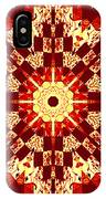 Red And White Patchwork Art IPhone Case