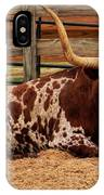 Red And White Texas Longhorn IPhone Case