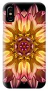 Red And Yellow Dahlia Iv Flower Mandala IPhone Case