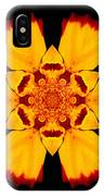 Red And Yellow Marigold II Flower Mandala IPhone Case