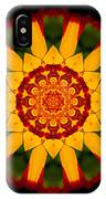 Red And Yellow Marigold V Flower Mandala IPhone Case