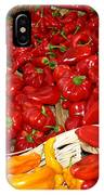 Red And Yellow Peppers IPhone Case