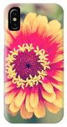 Red And Yellow Zinnia II IPhone Case