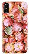 Red Apples With Green Leaf IPhone Case