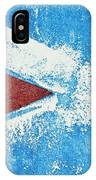Red Arrow Painted On Blue Wall IPhone Case