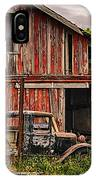 Red Barn And Truck In The Palouse IPhone Case
