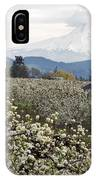 Red Barn In Hood River Pear Orchard IPhone Case