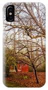 Red Barn In The Smokies IPhone Case