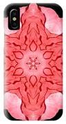 Red Begonia II Flower Mandala IPhone Case