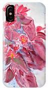 Red Begonias IPhone Case
