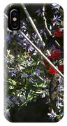 Red Berries And Violet Flowers IPhone Case