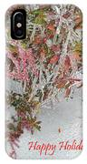 Red Berries Over Snow IPhone Case