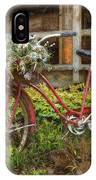 Red Bicycle IPhone Case