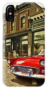 Red Bird On Main Street IPhone Case