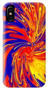 Red Blue Orange Red Yellow Swirl IPhone Case