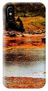 Red Boat At Low Tide Triptych IPhone Case