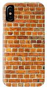 Red Brick Wall Texture IPhone Case