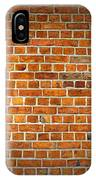 Red Brick Wall Texture With Vignette IPhone Case