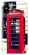 Red British Telephone Booth IPhone Case