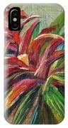 Red Bromiliad IPhone Case