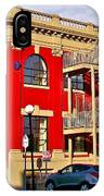 Red Building On Water Street In Saint John's-nl IPhone Case