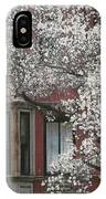 Red Building White Buds IPhone Case